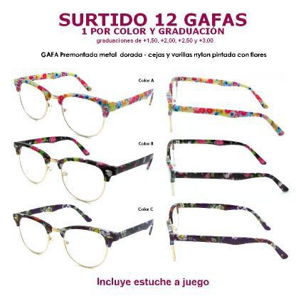 34d5b387bd SURTIDO Gafas Premontadas Mixta metal nylon